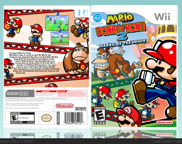 Mario vs Donkey Kong 2 : March of the Minis box art cover