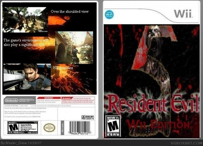 Resident Evil 5 Wii Edition Wii Box Art Cover By Master Drew