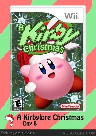 A Kirby Christmas box cover