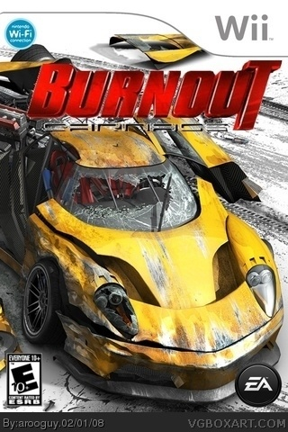 Burnout Carnage Wii Box Art Cover By Arooguy