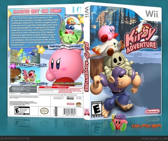 Kirby Adventure Box Cover Comments