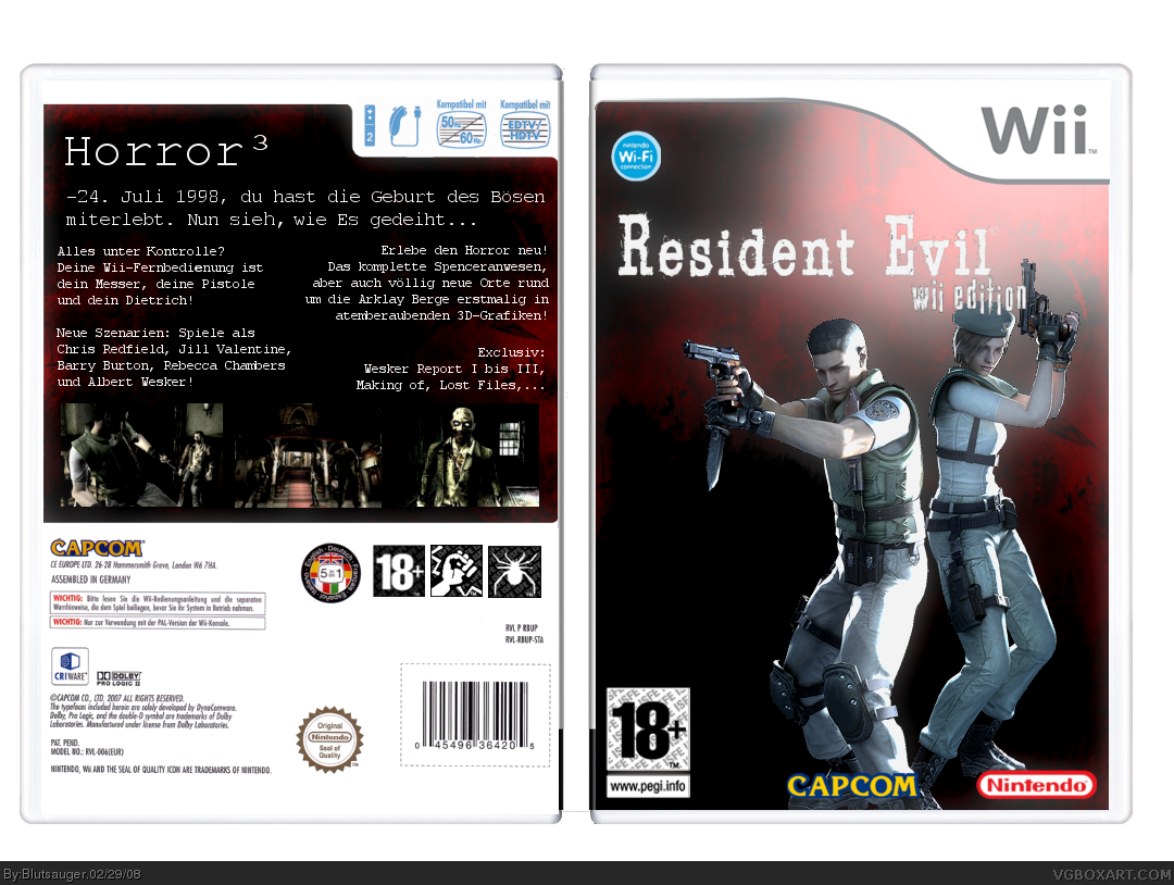 Wii » Resident Evil Wii Box Cover