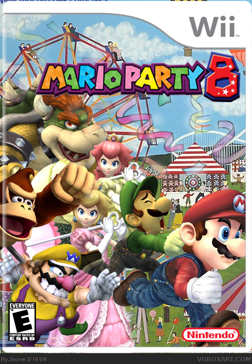 mario party 8 wii box art cover by jbone. Black Bedroom Furniture Sets. Home Design Ideas