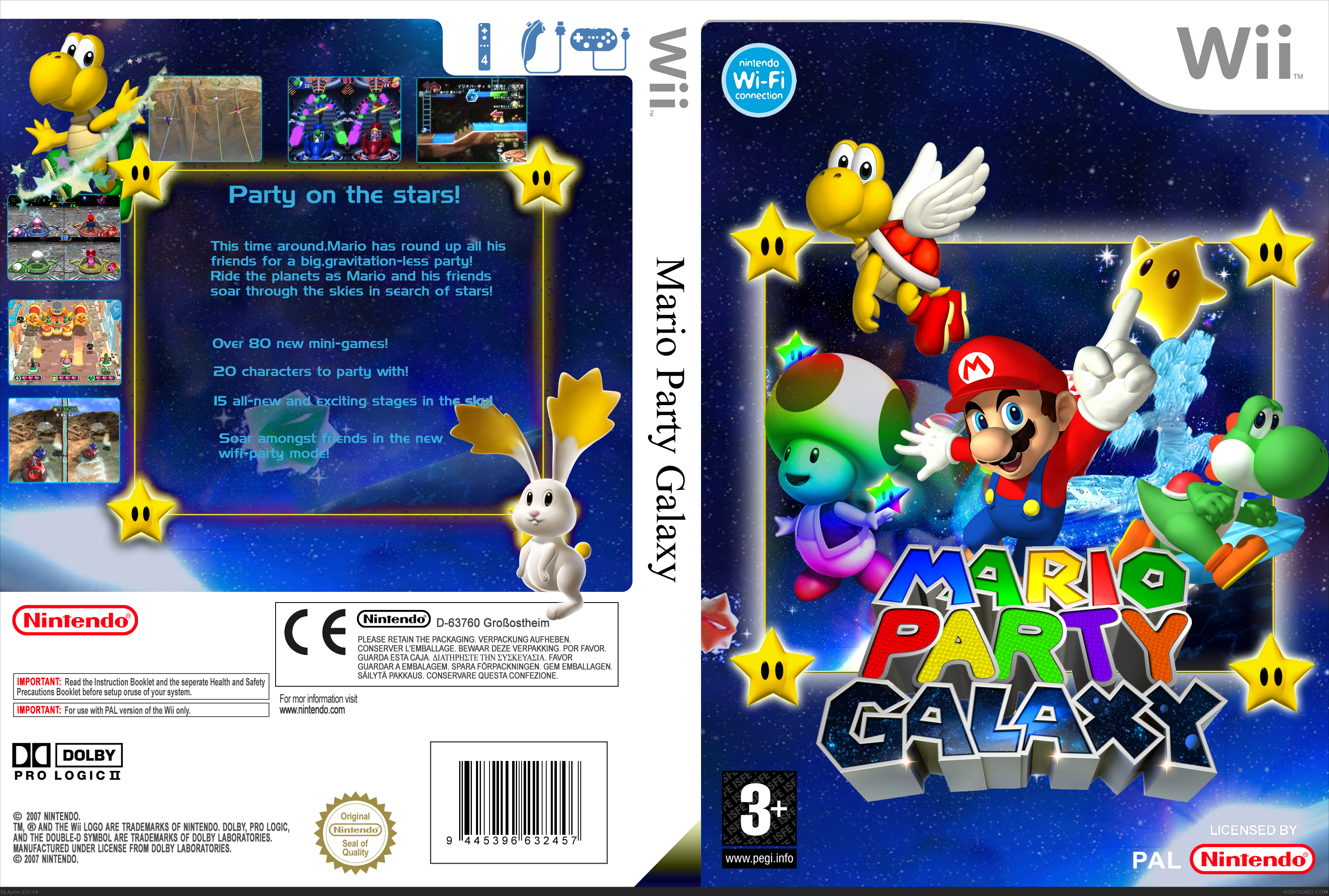 Mario Party Galaxy Wii Box Art Cover By Ayron