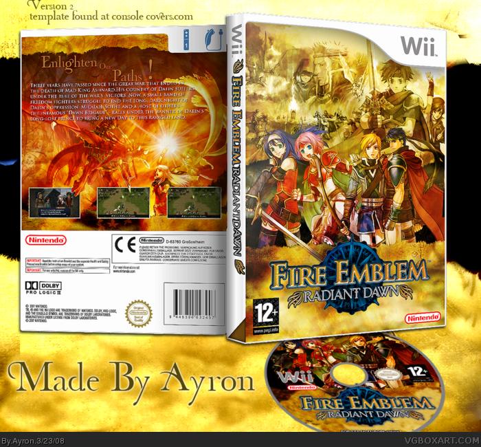 Fire Emblem: Radiant Dawn Box Cover Comments