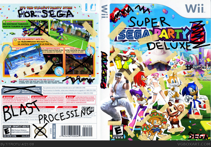 Super Sega Party Deluxe box art cover