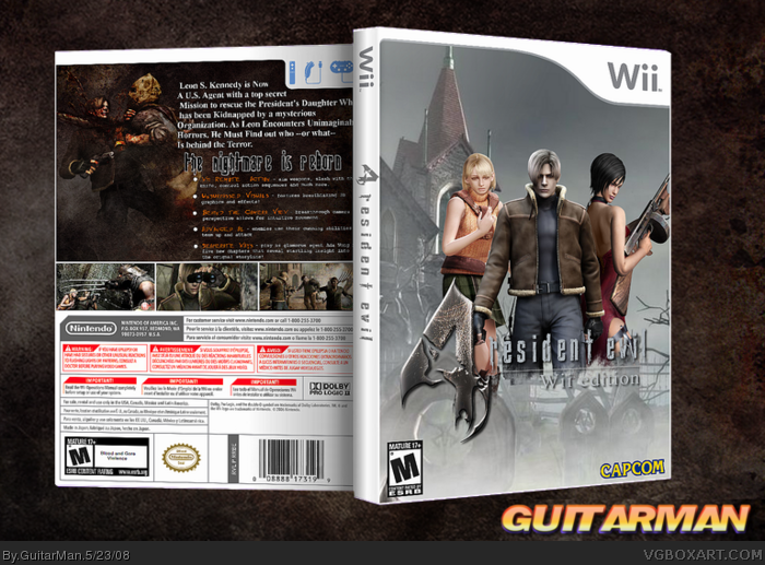 Wii » Resident Evil 4: Wii Edition Box Cover