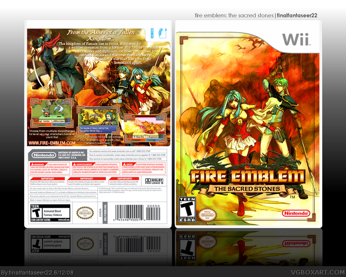 Fire Emblem: The Sacred Stones Box Cover Comments