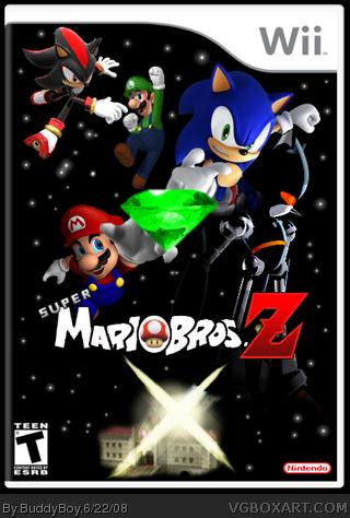 super mario bros z wii box art cover by buddyboy