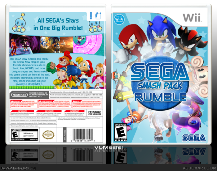 SEGA Smash Pack Rumble box art cover