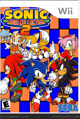 Sonic Mega Collection 2 Wii Box Art Cover By Vjmaster90