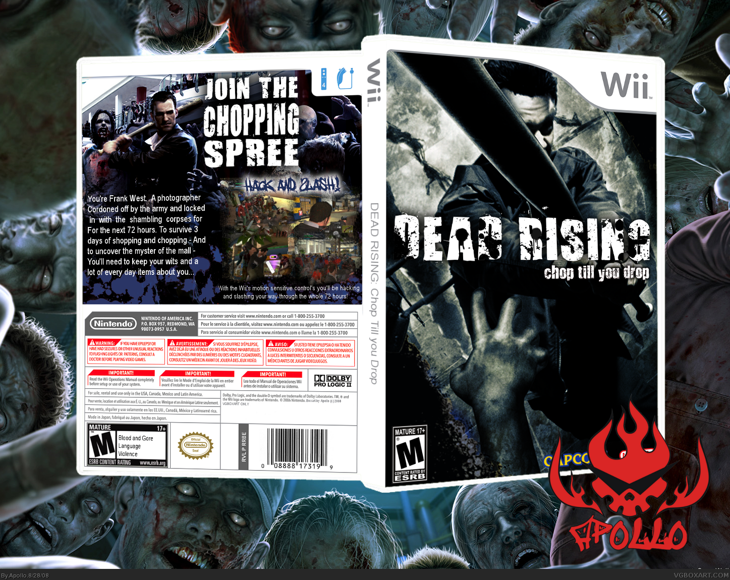 size Dead Rising: Chop Till' You Drop box cover by Apollo [ Back