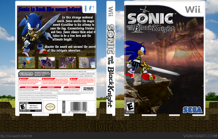 Sonic and the Black Knight Box Cover Comments