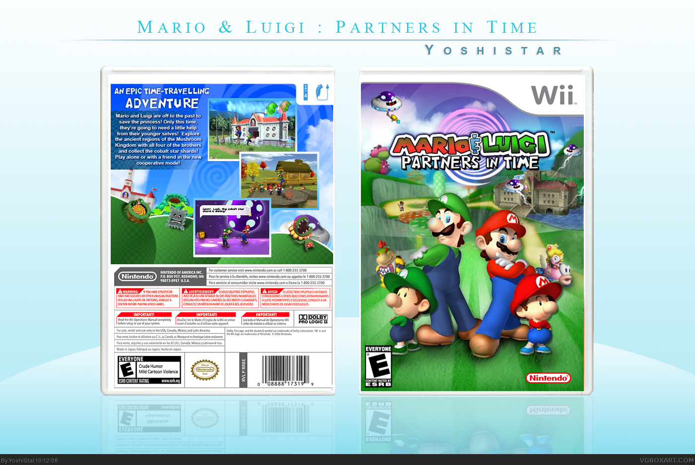 Viewing Full Size Mario Luigi Partners In Time Box Cover