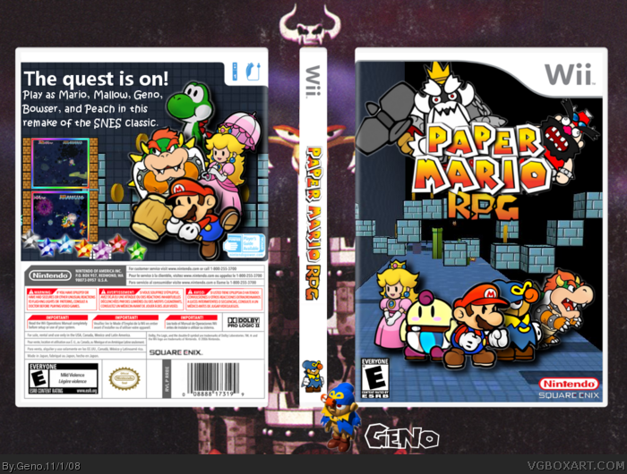 Paper Mario RPG Box Cover Comments