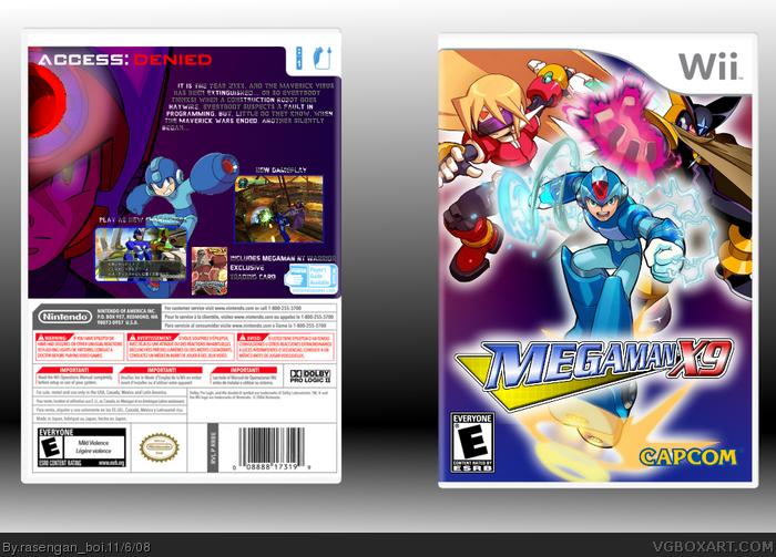 Mega Man X9 Wii Box Art Cover By Rasengan Boi