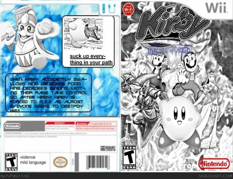 Kirby Underworld box cover