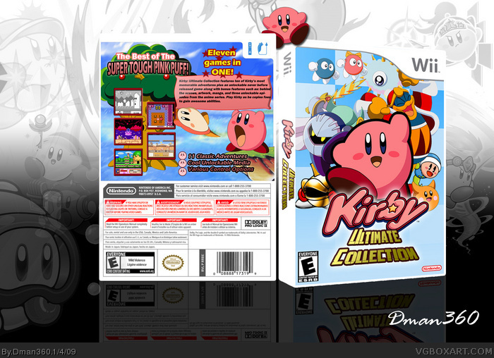 Kirby Ultimate Collection box art cover