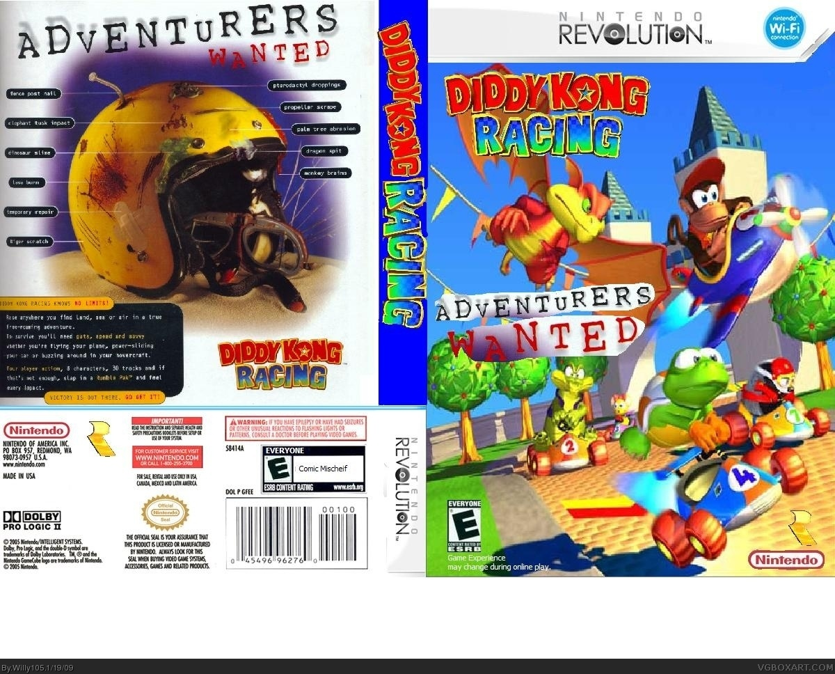 Viewing Full Size Diddy Kong Racing 2 Box Cover