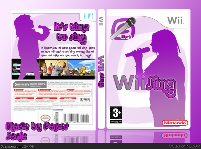 Wii » Wii sing Box Cover