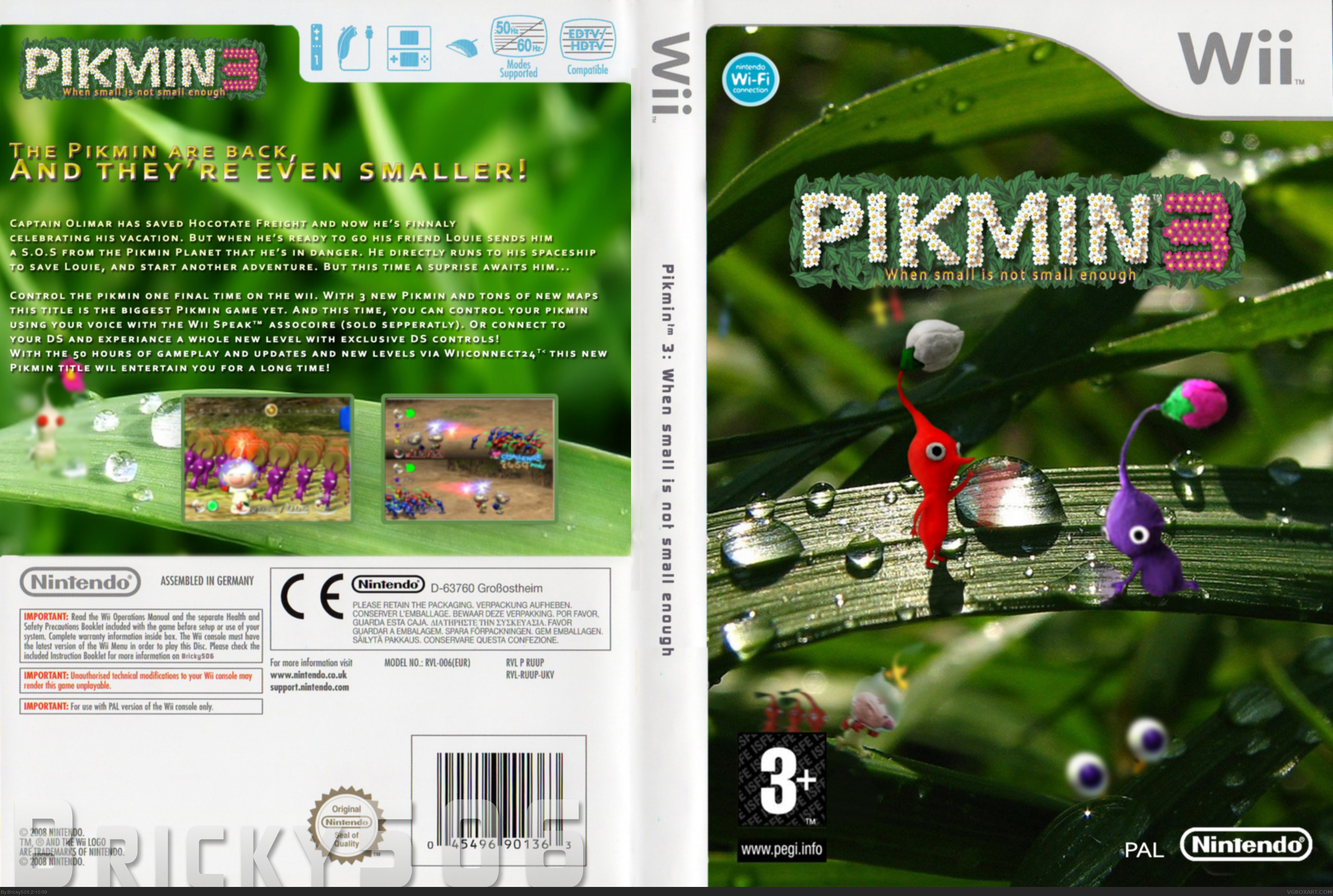 Viewing Full Size Pikmin 3 Box Cover