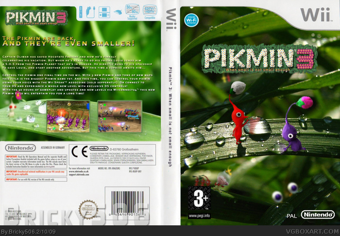 Pikmin 3 Wii Box Art Cover By Bricky506