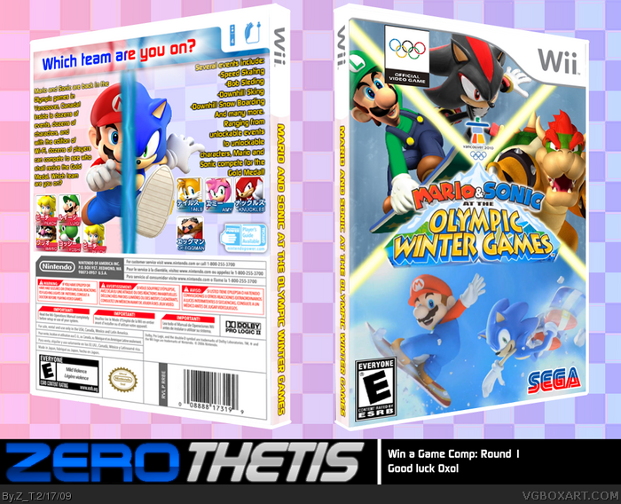 Wii » Mario and Sonic at the Olympic Winter Games Box Cover ? ?