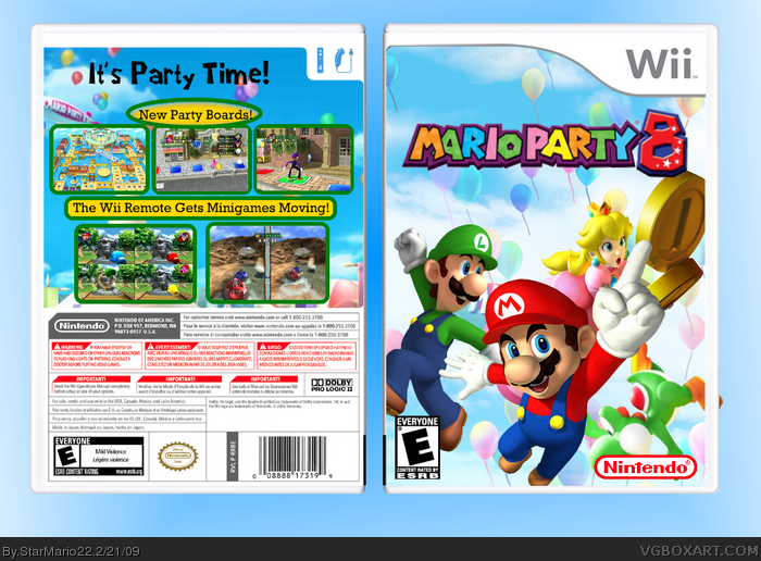 mario party 8 wii box art cover by starmario22. Black Bedroom Furniture Sets. Home Design Ideas