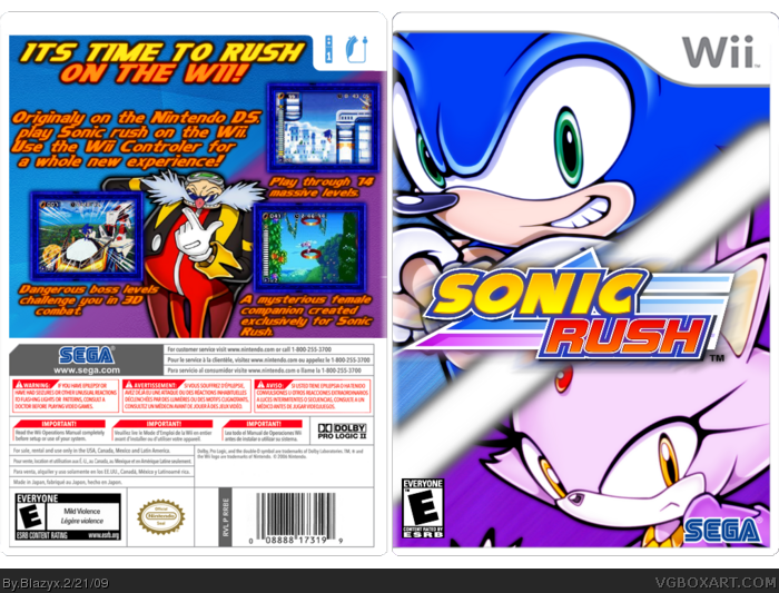 Sonic Rush Wii Box Art Cover by Blazyx