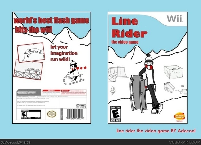 Line rider the video game box art cover
