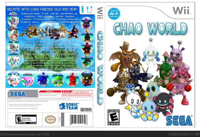 Chao World Wii Box Art Cover By Chosenoneknuckles