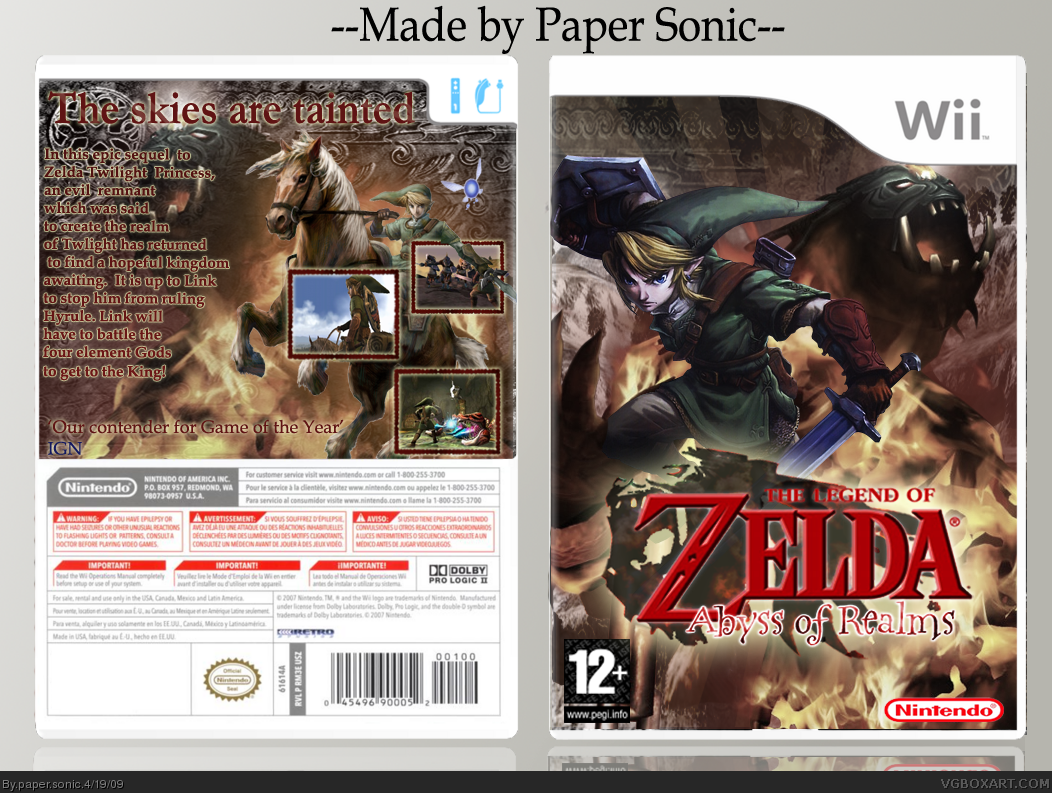 The Legend of Zelda: Abyss of Realms box cover