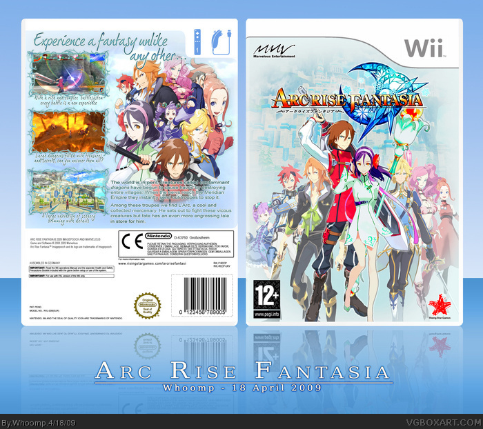Arc Rise Fantasia box art cover
