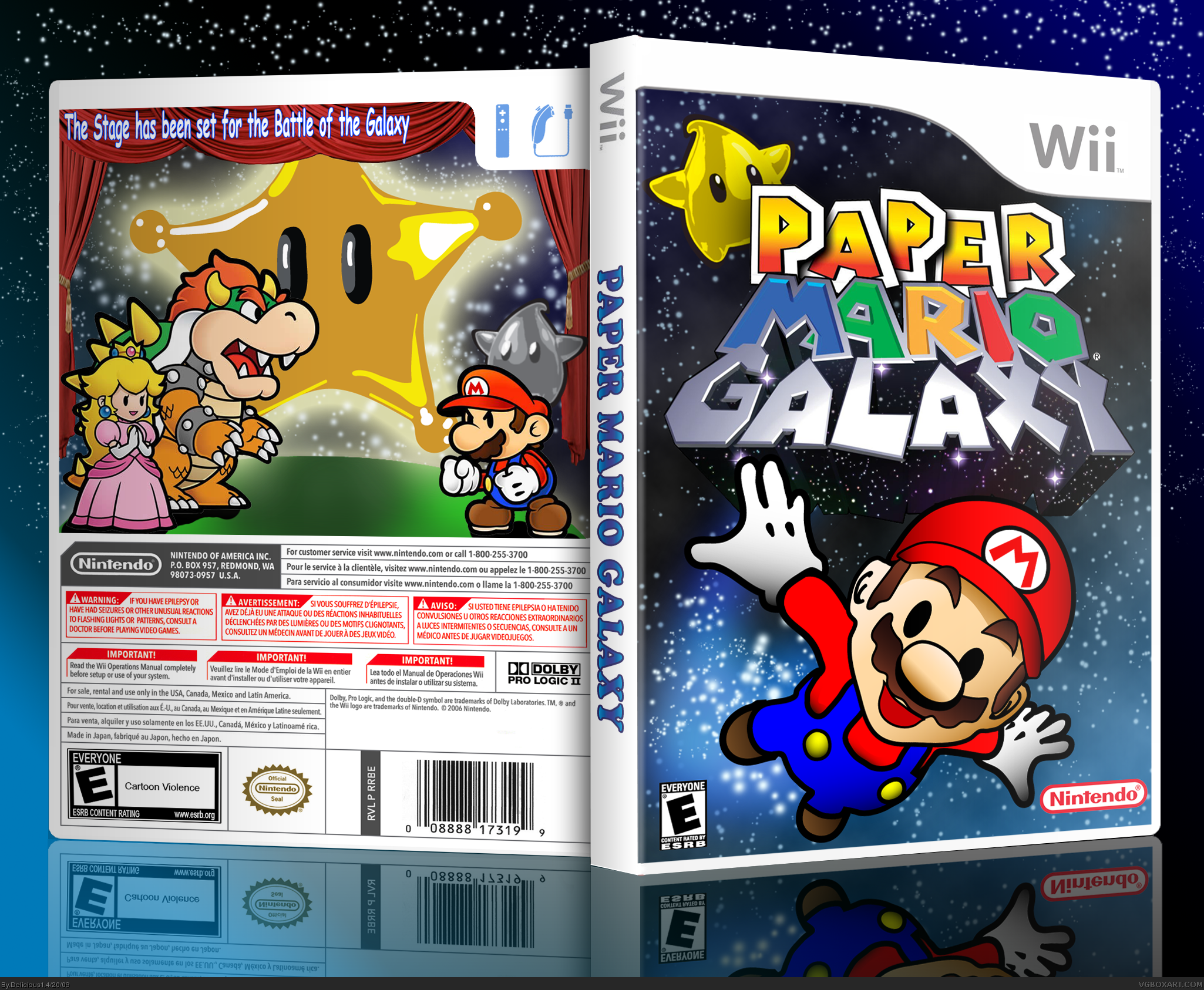 Paper Mario Galaxy Box Cover Comments