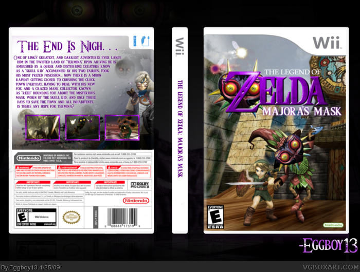 Wii » The Legend of Zelda: Majora's Mask Box Cover