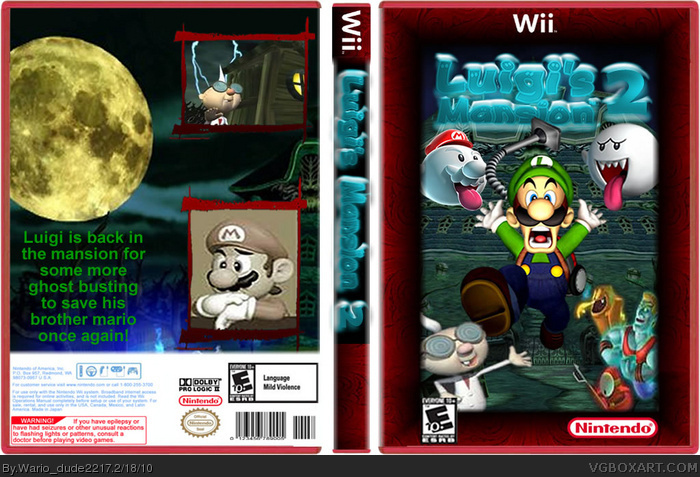 Luigi's Mansion 2 box art cover