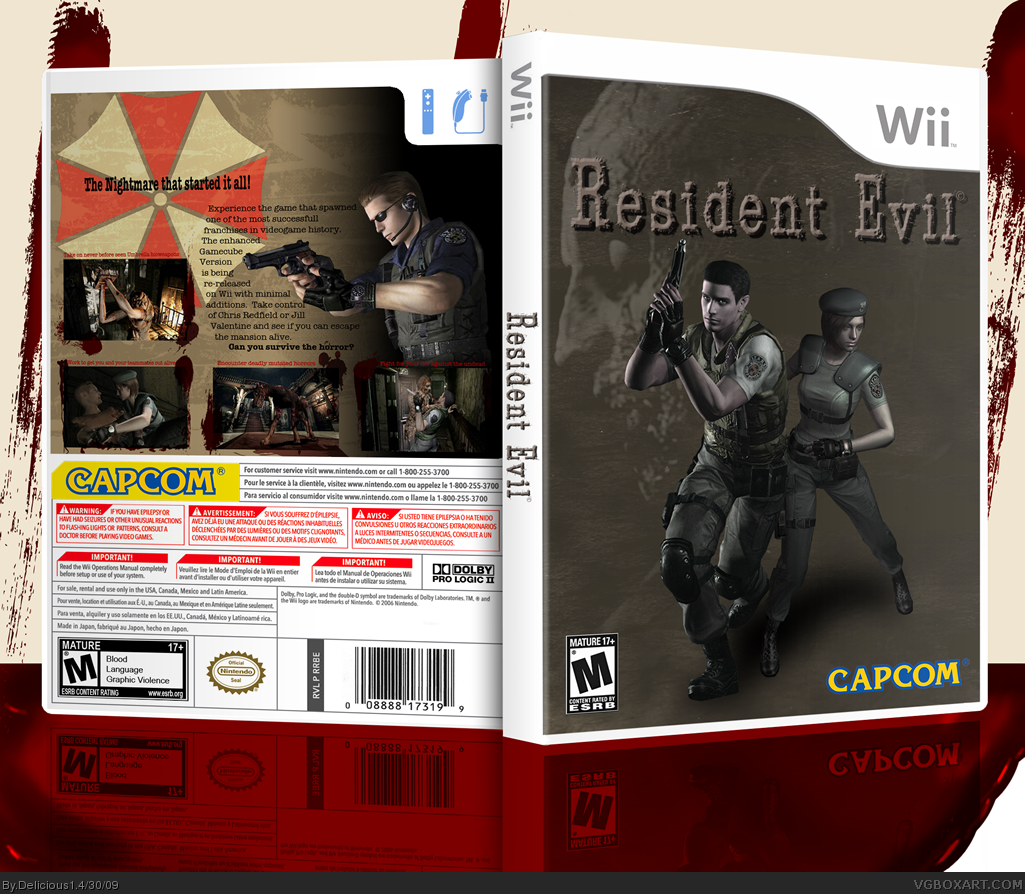 Resident Evil Wii Edition box cover