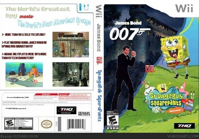 SpongeBob vs Sonic http://vgboxart.com/view/29065/james-bond-vs-spongebob-squarepants-cover/