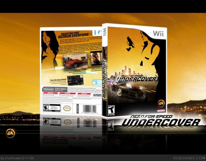 need for speed undercover wii box art cover by darkhawk. Black Bedroom Furniture Sets. Home Design Ideas