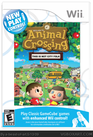 New play control animal crossing wii box art cover by a for Agrandissement maison animal crossing wii