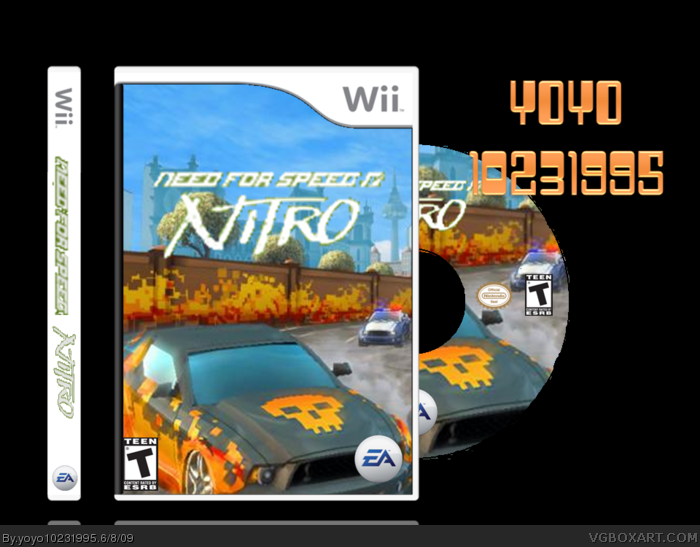 need for speed nitro wii box art cover by yoyo10231995. Black Bedroom Furniture Sets. Home Design Ideas