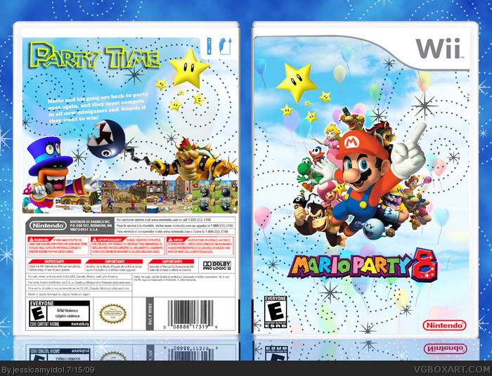 mario party 8 wii box art cover by jessicamyidol. Black Bedroom Furniture Sets. Home Design Ideas