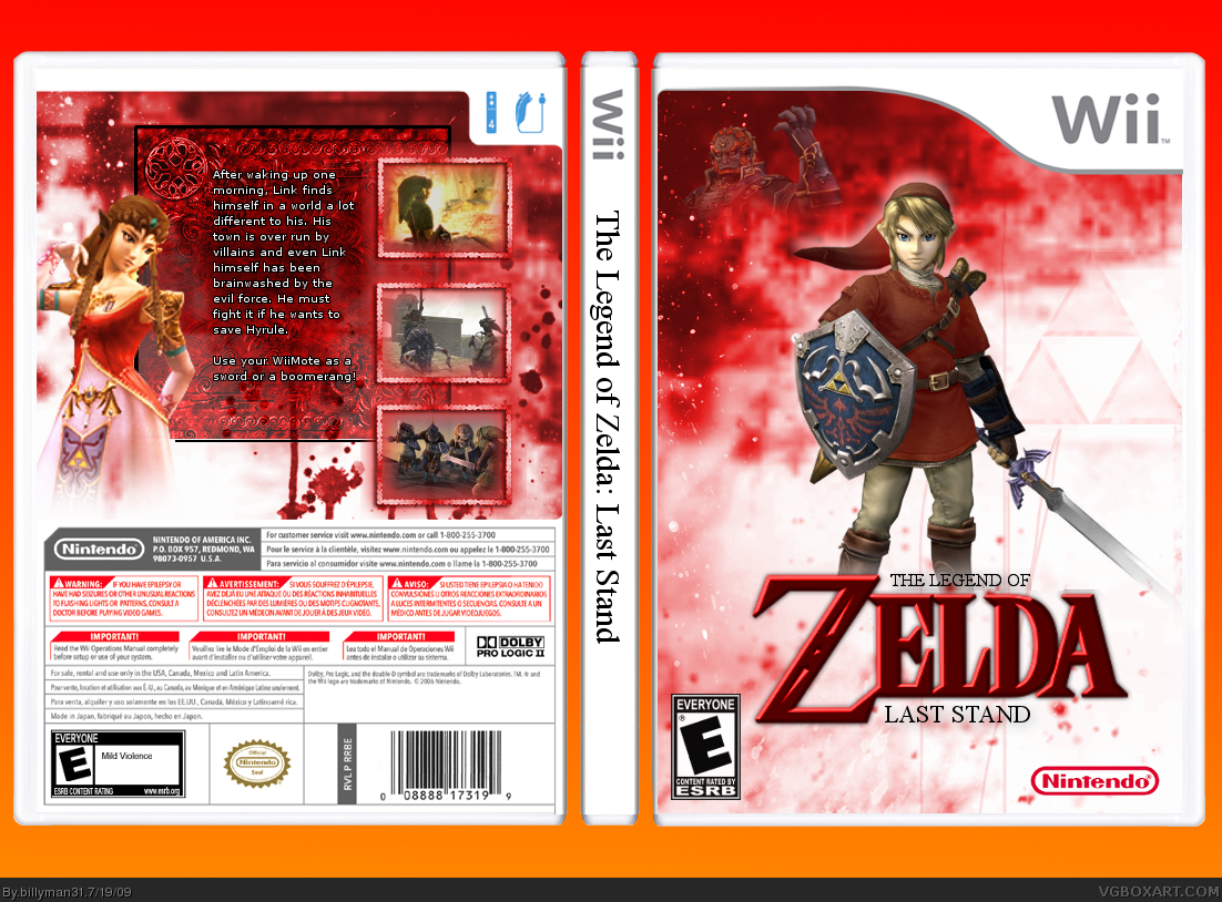 the legend of zelda last stand wii box art cover by billyman31