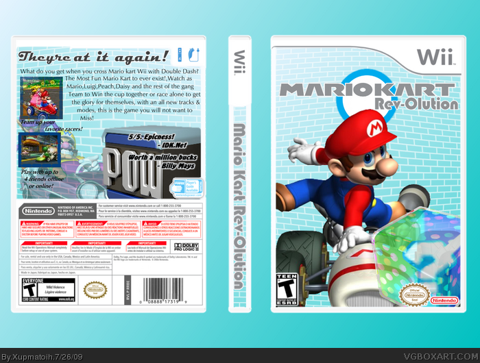 Mario Kart Revolution box art cover