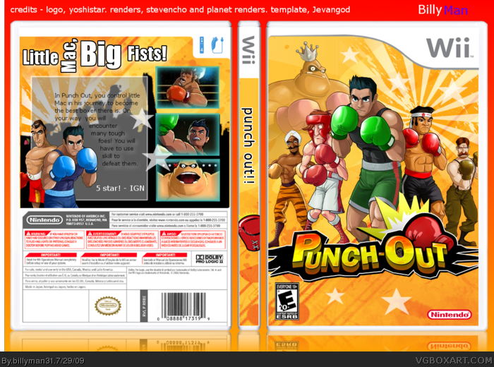 Wii » Punch Out!! Box Cover