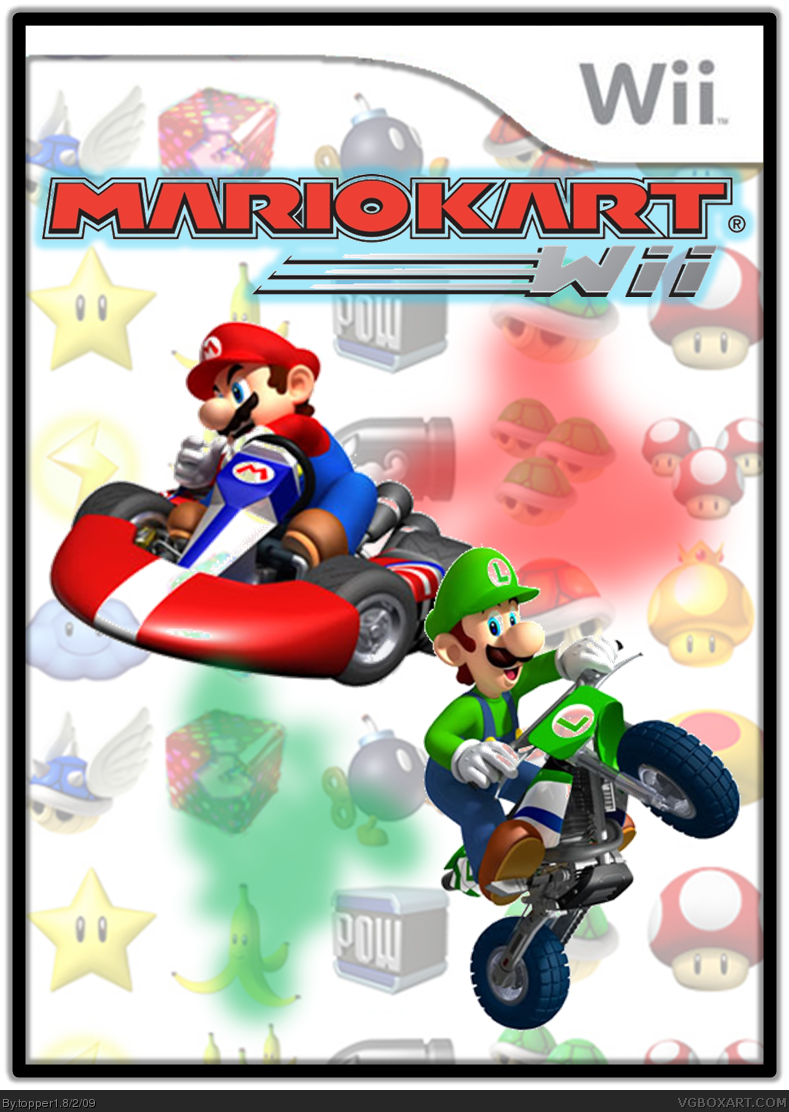 mario kart wii wii box art cover by topper1. Black Bedroom Furniture Sets. Home Design Ideas