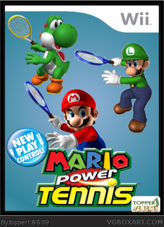 New Play Control! Mario Power Tennis box cover