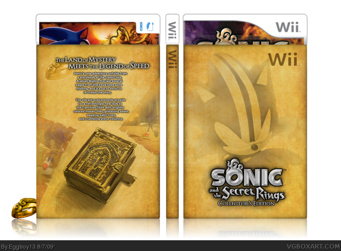 Sonic and The Secret Rings: Collector's Edition box art cover