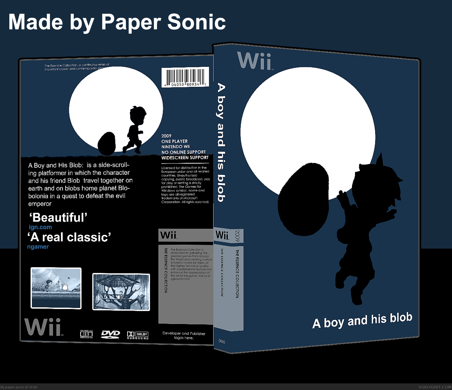 A Boy and his Blob box cover