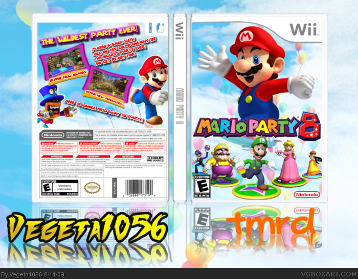 mario party 8 wii box art cover by vegeta1056. Black Bedroom Furniture Sets. Home Design Ideas